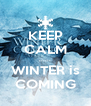 KEEP CALM ...... WINTER is COMING - Personalised Poster A4 size