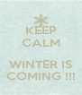 KEEP CALM   WINTER IS COMING !!! - Personalised Poster A4 size