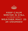 KEEP CALM WINTER IS STILL A LONG WAY AWAY WEATHER MAY 25 24 DEGREES! - Personalised Poster A4 size