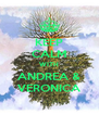 KEEP CALM WITH ANDREA & VERONICA - Personalised Poster A4 size