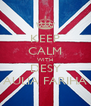 KEEP CALM WITH DESY AULIA FARIHA - Personalised Poster A4 size
