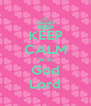 KEEP CALM With God Lord - Personalised Poster A4 size