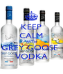 KEEP CALM WITH GREY GOOSE  VODKA - Personalised Poster A4 size