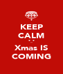 KEEP CALM *_* Xmas IS COMING - Personalised Poster A4 size