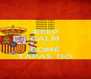 KEEP CALM Y COMÉ TAPAS TIO - Personalised Poster A4 size