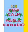 KEEP CALM Y HABLA  KANARIO - Personalised Poster A4 size