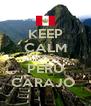 KEEP CALM Y VIVA EL  PERÚ CARAJO  - Personalised Poster A4 size