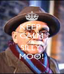 KEEP  CALM YA  SILLY  MOO! - Personalised Poster A4 size