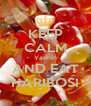 KEEP CALM Yasmin AND EAT HARIBOS! - Personalised Poster A4 size