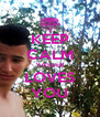KEEP CALM YASSER LOVES YOU - Personalised Poster A4 size