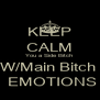 KEEP CALM You a Side Bitch  W/Main Bitch   EMOTIONS - Personalised Poster A4 size