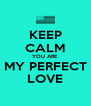 KEEP CALM YOU ARE MY PERFECT LOVE - Personalised Poster A4 size