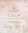 KEEP CALM You have 1 wedding I have over 30 :) - Personalised Poster A4 size