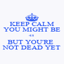KEEP CALM YOU MIGHT BE 48 BUT YOU'RE  NOT DEAD YET - Personalised Poster A4 size