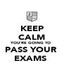 KEEP CALM YOU'RE GOING TO  PASS YOUR  EXAMS  - Personalised Poster A4 size