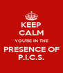 KEEP CALM YOU'RE IN THE PRESENCE OF P.I.C.S. - Personalised Poster A4 size