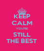 KEEP CALM YOU'RE STILL THE BEST - Personalised Poster A4 size