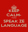 KEEP CALM- YOU SPEAK ZE LANGUAGE - Personalised Poster A4 size