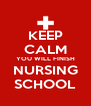 KEEP CALM YOU WILL FINISH NURSING SCHOOL - Personalised Poster A4 size