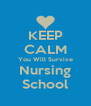 KEEP CALM You Will Survive Nursing School - Personalised Poster A4 size