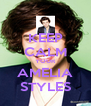 KEEP CALM YOUR AMELIA STYLES - Personalised Poster A4 size
