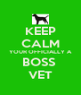 KEEP CALM YOUR OFFICIALLY A BOSS  VET - Personalised Poster A4 size