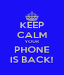 KEEP CALM YOUR PHONE IS BACK! - Personalised Poster A4 size