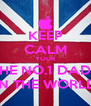 KEEP CALM YOUR THE NO.1 DAD... IN THE WORLD - Personalised Poster A4 size