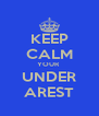 KEEP CALM YOUR  UNDER AREST - Personalised Poster A4 size