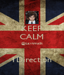 KEEP CALM @zaynmalik  1Direction - Personalised Poster A4 size