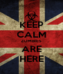 KEEP CALM ZOMBIES ARE HERE - Personalised Poster A4 size