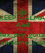 KEEP CALMA And Follow alex_psy_guitar _awsome_cool - Personalised Poster A4 size