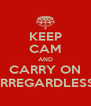 KEEP CAM AND CARRY ON IRREGARDLESS - Personalised Poster A4 size