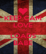 KEEP CAM LOVE YOU LOADS BABE - Personalised Poster A4 size