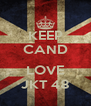 KEEP CAND  LOVE JKT 48 - Personalised Poster A4 size