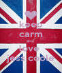 keep carm and  love  jess coole - Personalised Poster A4 size