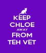 KEEP  CHLOE  AWAY  FROM  TEH VET  - Personalised Poster A4 size