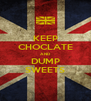 KEEP CHOCLATE AND DUMP SWEETS - Personalised Poster A4 size