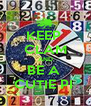 KEEP  CLAM AND BE A  CUTIE PI  - Personalised Poster A4 size