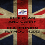 KEEP CLAM AND CARRY ON RFA REUNION PLYMOUTH2012 - Personalised Poster A4 size