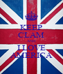 KEEP CLAM AND I LOVE AMERICA - Personalised Poster A4 size
