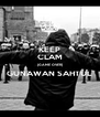 KEEP CLAM (GAME OVER) GUNAWAN SAHTUL  - Personalised Poster A4 size