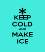 KEEP COLD AND MAKE ICE - Personalised Poster A4 size