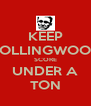KEEP COLLINGWOOD SCORE UNDER A TON - Personalised Poster A4 size