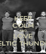 KEEP COLM AND LOVE CELTIC THUNDER - Personalised Poster A4 size
