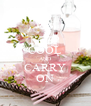 KEEP COOL AND CARRY ON - Personalised Poster A4 size