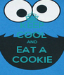 KEEP COOL AND EAT A COOKIE - Personalised Poster A4 size