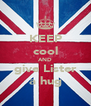 KEEP cool AND give Lister a hug - Personalised Poster A4 size