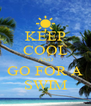 KEEP COOL AND GO FOR A SWIM - Personalised Poster A4 size