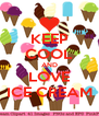 KEEP COOL AND LOVE ICE CREAM - Personalised Poster A4 size